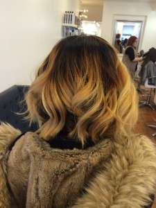 Kaitlin's happy client and her beautiful Ombre